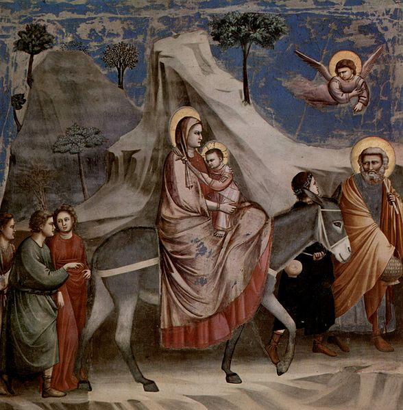 La fuite en Egypte - Giotto